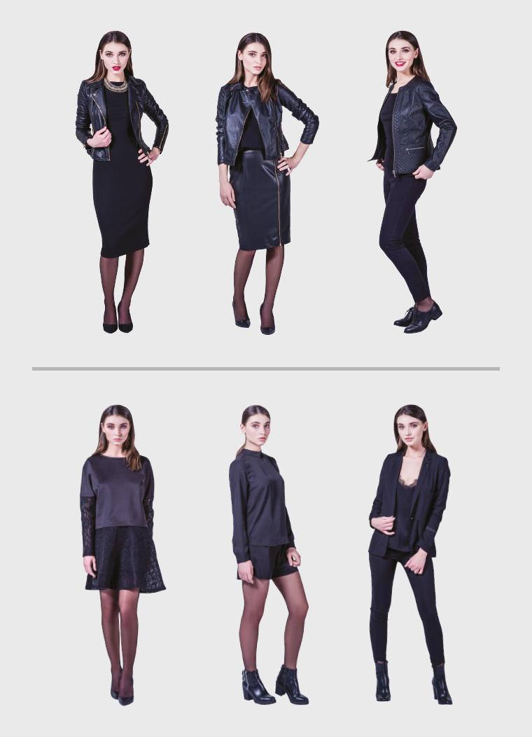 Женские черные луки