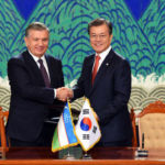 Президент Республики Узбекистан Шавкат Мирзиёев и Президент Республики Корея Мун Чжэ Ин