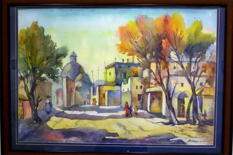 Персональная выставка Аслиддина Колонова «Очарование акварели»