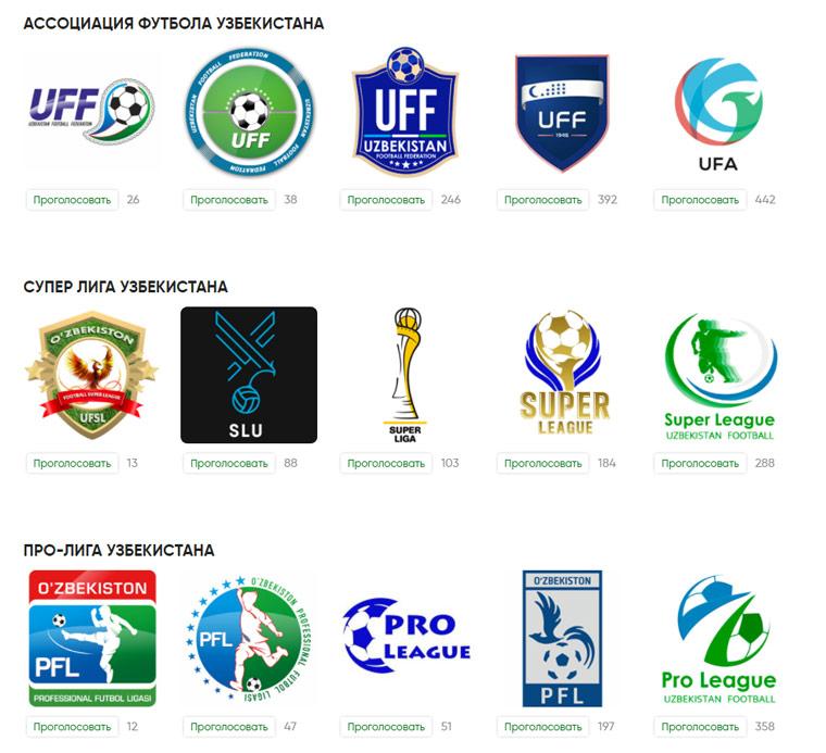 новые логотипы Федерации футбола Узбекистана