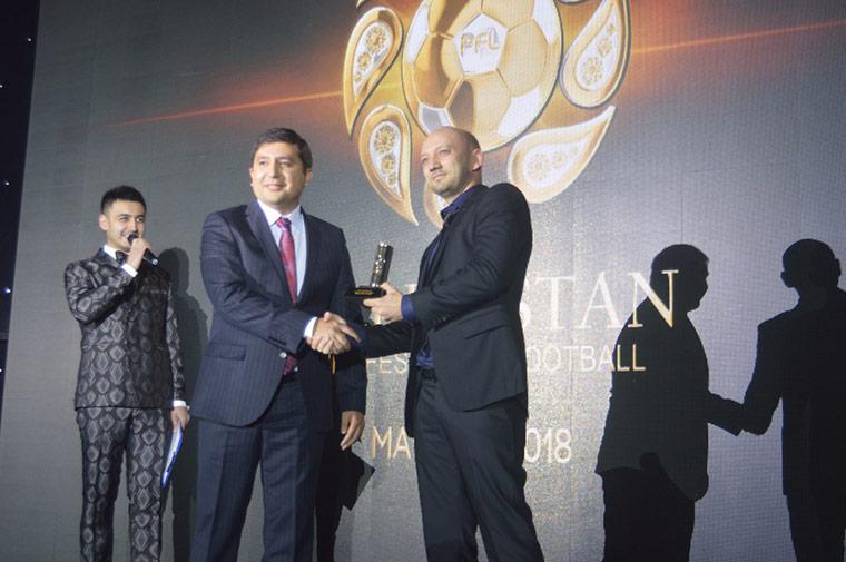 Церемония награждения лучших в узбекском футболе 2018